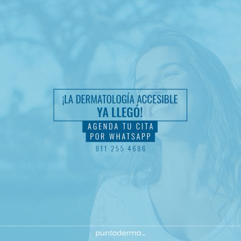 Dermatologia accesible - Agenda tu cita por whatsapp