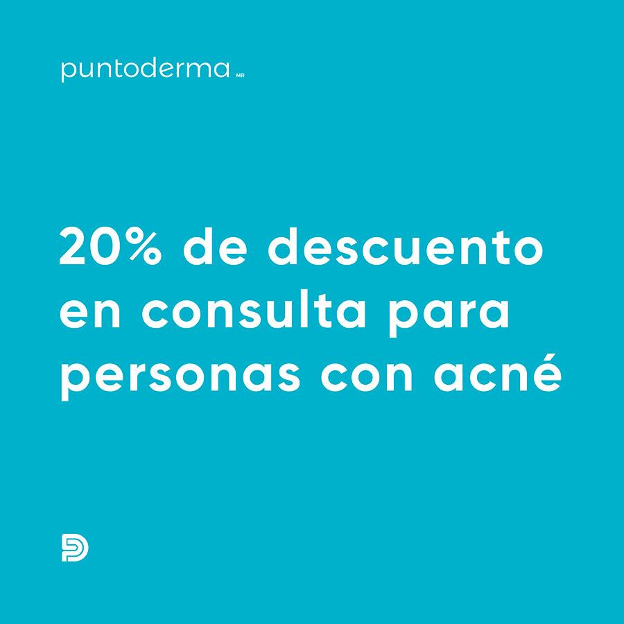 20% de Descuento en consulta para personas con acné